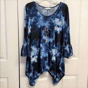 Bobbie Brooks Blouse Size 1X Tye Dye New